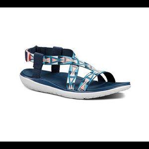 Teva Terra Float Livia Sandals Pink Blue Sz 7